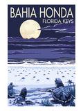 Bahia Honda, Florida Keys - Sea Turtles Hatching Poster by  Lantern Press