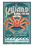 Seward, Alaska - King Crab Prints by Lantern Press 