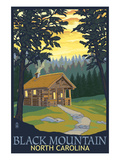 Black Mountain, North Carolina - Cabin Scene Poster by  Lantern Press