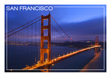 San Francisco, California - Golden Gate Bridge and Skyline Print by  Lantern Press