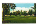 Rochester, New York - Municipal Park on Lake Ontario View Prints by  Lantern Press