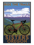 Sisters, Oregon - Mountain Bike Póster por Lantern Press
