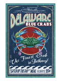 Bethany, Delaware Blue Crabs Posters by Lantern Press