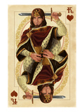 King of Hearts - Playing Card Print by  Lantern Press