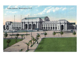 Washington DC - Exterior View of Union Station Print by  Lantern Press