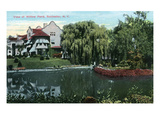 Rochester, New York - Willow Pond View Prints by  Lantern Press