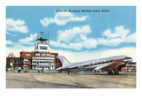 Knoxville, Tennessee - View of the Knoxville Municipal (McGhee Tyson) Airport Prints by  Lantern Press