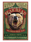 Seward, Alaska - Grizzly Ale Print by  Lantern Press