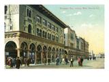 Venice, California - Western View Down Windward Avenue Kunstdrucke von  Lantern Press