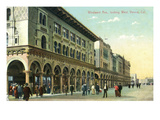 Venice, California - Western View Down Windward Avenue Prints by  Lantern Press