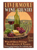 Livermore, California - Wine Prints by  Lantern Press