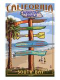 Manhattan Beach, California - Destination Sign Posters by  Lantern Press