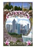 Atlanta, Georgia - City Scenes Montage Prints by  Lantern Press