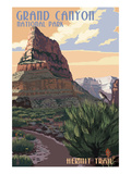 Grand Canyon National Park - Hermit Trail Print by  Lantern Press