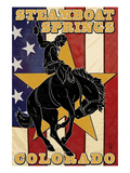 Steamboat Springs, Colorado - Bronco and Star Prints by  Lantern Press