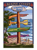 Schoodic Point, Maine - Sign Destinations Posters by  Lantern Press