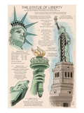 Statue of Liberty National Monument - New York City, NY - Technical Art by  Lantern Press