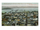 San Francisco, California - Panoramic View a Year after 1906 Fire Prints by  Lantern Press