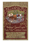 Williamsburg, Virginia - Carriage Tours Poster by Lantern Press 