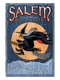 Salem, Massachusetts - Witch Posters par  Lantern Press
