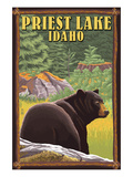 Priest Lake, Idaho - Bear in Forest Prints by  Lantern Press