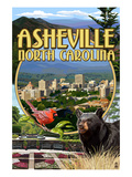 Asheville, North Carolina - Montage Scenes Affiches par  Lantern Press