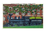 Winnipeg, Manitoba - Countess of Dufferin Train Engine Scene Prints by  Lantern Press
