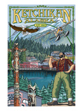 Great Alaskan Lumberjack Show - Ketchikan, Alaska Views Prints by  Lantern Press