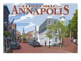 Historic Annapolis, Maryland Street View Posters by  Lantern Press