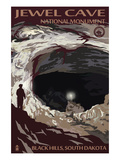 Jewel Cave National Monument - Black Hills, South Dakota Poster von  Lantern Press