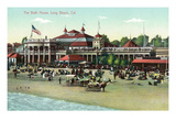 Long Beach, California - Exterior View of the Bath House Posters by  Lantern Press