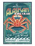 Alaska King Crab Kunst af Lantern Press