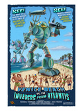 Venice Beach, California - Atlantean Invaders Prints by  Lantern Press