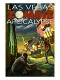 Las Vegas, Nevada - Zombie Apocolypse Prints by  Lantern Press