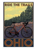 Ohio - Bicycle Ride the Trails Pósters por  Lantern Press