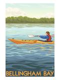 Bellingham Bay, Washington - Kayak Scene Prints by  Lantern Press