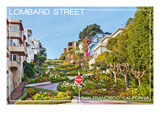 San Francisco, California - Lombard Street Posters by  Lantern Press