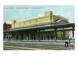 Schenectady, New York - Exterior of Union Depot from Tracks Prints by  Lantern Press