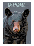 Black Bear Up Close - Franklin, North Carolina Prints by  Lantern Press