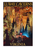 Luray Caverns, Virginia - Discovery Art by  Lantern Press