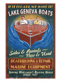 Lake Geneva, Wisconsin - Boat Shop Posters by  Lantern Press