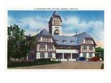 Winnipeg, Manitoba - Assiniboine Park Pavilion Exterior Prints by  Lantern Press