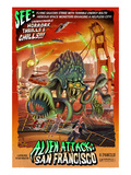 Alien Attack! San Francisco, California Posters by  Lantern Press