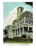 Palm Beach, Florida - Royal Poinciana Main Entrance View Poster par  Lantern Press