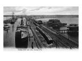 Tampa, Florida - Tampa Port and Inn View Prints by  Lantern Press