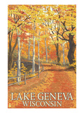 Lake Geneva, Wisconsin - Fall Colors Posters by  Lantern Press
