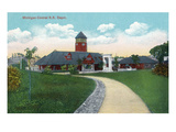 Battle Creek, Michigan - Michigan Central Railroad Depot Exterior Prints by Lantern Press