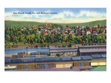 Jim Thorpe, Pennsylvania - View of East Mauch Chunk and Rr Junction Prints by  Lantern Press