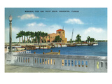 Bradenton, Florida - Memorial Pier and Yacht Basin View Kunstdrucke von  Lantern Press
