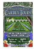 Williamsburg, Virginia - Garden Tours Posters by  Lantern Press